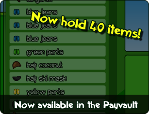 40 item capacity available in the Payvault